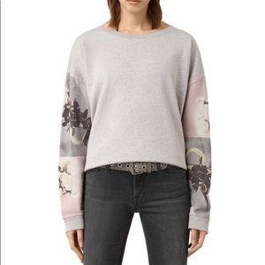 All Saints🖤Belle Lo sweatshirt grey
